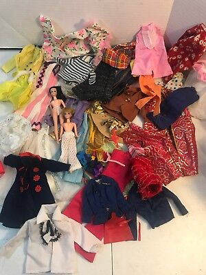Large Mixed Lot Of Vintage Doll Clothes Some Barbie Dawn More
