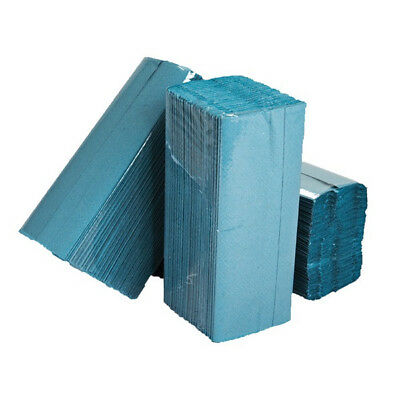 ESSENTIALS 1 Ply Blue C-Fold Paper Hand Towels - Pack of 2880