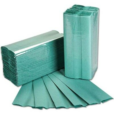 ESSENTIALS 1 Ply Green C-Fold Paper Hand Towels - Pack of 2880