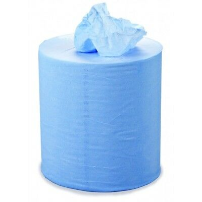 SAPPHIRE 2 Ply Blue Centrefeed Roll - 104m x 175mm - Pack of 6