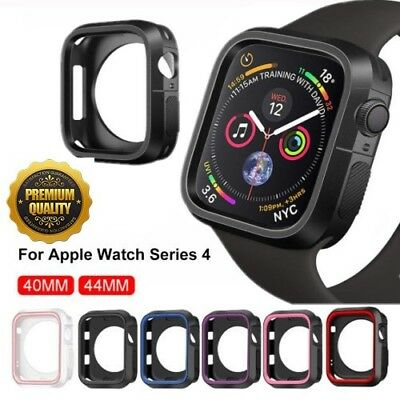For Apple Watch Series 4 Silicone TPU Bumper Case Cover iWatch Protector 40&44mm