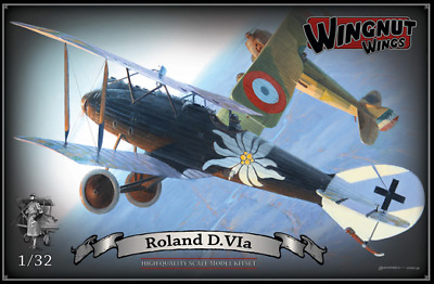 OOP Wingnut Wings 1/32 Roland D. VIa  (Merc D.III/D.IIIau engine) Kit #32022
