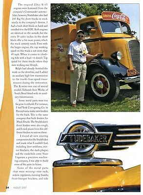 1939 STUDEBAKER SK-15 CAB OVER COCA COLA TRUCK 2 page Article