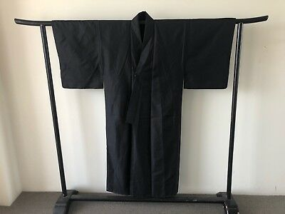 Men's Silk Kimono Japanese Costume Hand Made Vintage Jacket Coat Robe