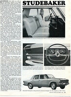 1966 Studebaker Overview 1 Page Article Daytona