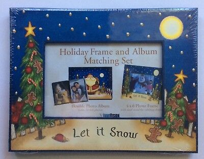 """Christmas """"Let it Snow"""" photo album and matching frame - new/sealed package"""