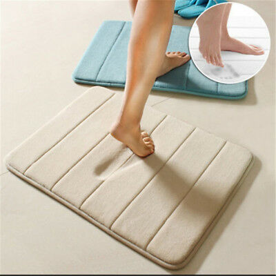Soft Pure Color Absorbent  Memory Foam Bath Mat Bathroom Absorbent Water Rug