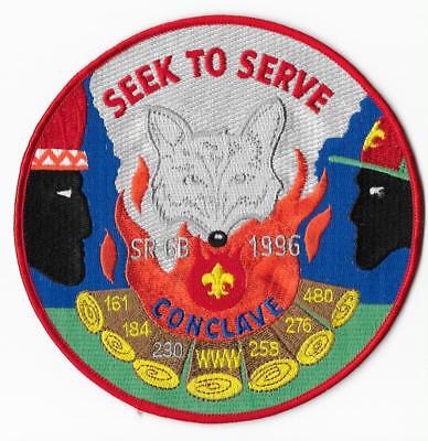 1996 Section SR-6B Conclave Back Patch Order of the Arrow Area Kentucky KY OA