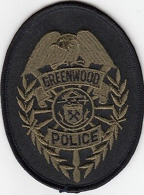 Greenwood Subdued Swat Police Patch Colorado Co