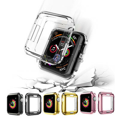 Flexible TPU Plated Protective Case Bumper For Apple Watch Series 4 40mm 44mm