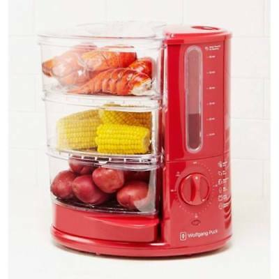Wolfgang Puck Rapid Food Steamer 1400 Watt 3 Tier Various Colors With Rice Tray