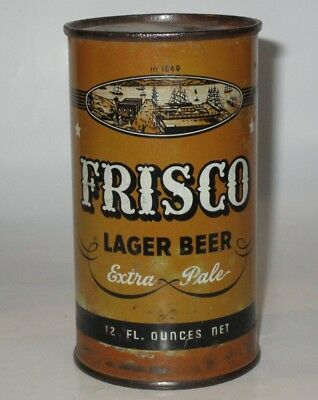 Frisco OI flat top beer can, General Brewing Co., San Francisco, CA, 1930s