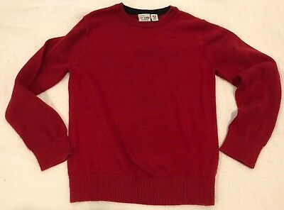 Childrens Place Red Christmas Sweater Boys 7/8Y