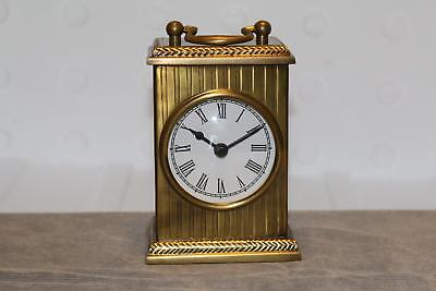 Vintage Look Brass Mantle Clock