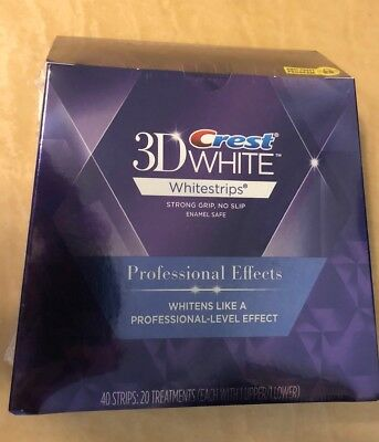 Crest 3D Whitestrips LUXE Professional Effects 40 strip Sealed Box,EXP JUL 2020