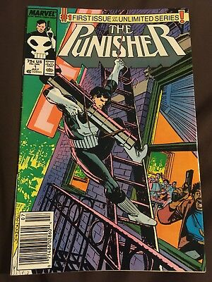 Punisher #1 1987 1st ongoing Very Nice! NEWSSTAND Variant CHU Black Friday