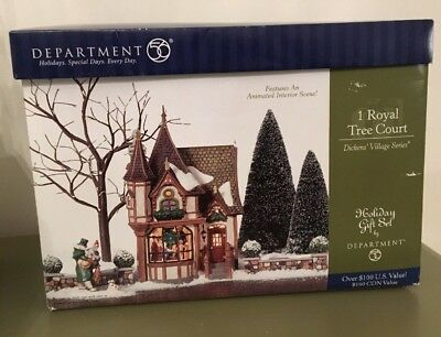 "DEPT 56 ""1 ROYAL TREE COURT"" Dickens' Village Series, 8-Piece Holiday Gift Set"