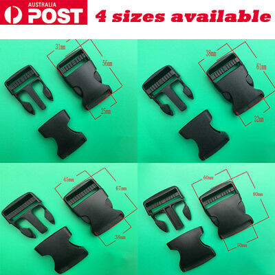 5pcs Plastic Bag Buckle Quick Release Cord Strap Clip Belt Backpack Luggage AU