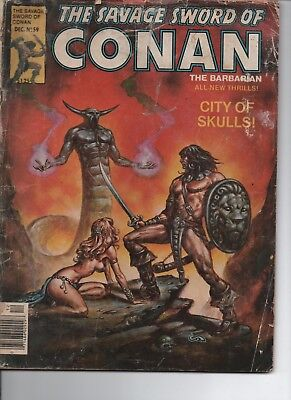 The Savage Sword of Conan The Barbarian -#59 - December 1980 - City of Skulls