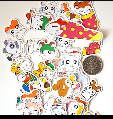 Lot of 47 Hamtaro stickers great for scrapbooks art projects etc Set B