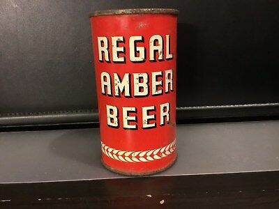 Regal Amber Beer (120-27) OI flat top beer can by Regal Amber, San Francisco