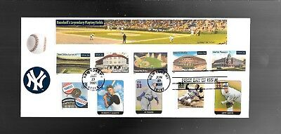 Us Fdc First Day Cover  Baseball 2001  # 10 Envelope Combo
