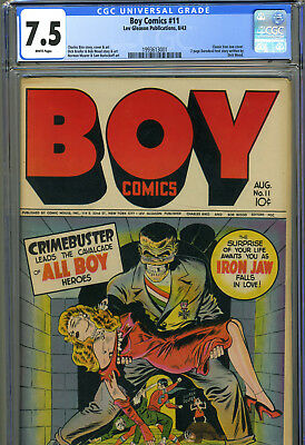 Boy Comics #11, Aug_1943, Cgc 7.5