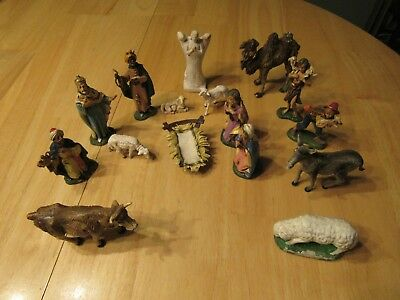 Vintage Depose Italy Nativity Set Most Has Spider Mark