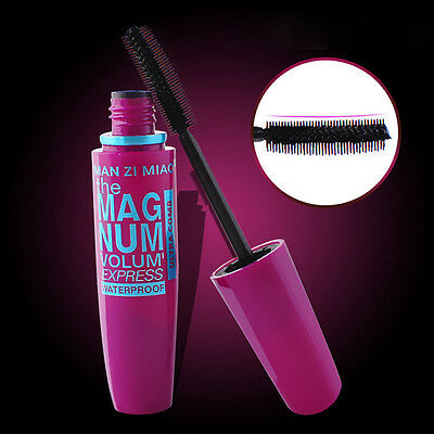 Waterproof Black 3D Makeup Mascara Fiber Eyelash Extension Curling Thick Beauty