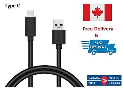 USB Type C 3.1 Sync Charger Cable Galaxy S8 S9 A5 2017 LG G6 Pixel 1M 3ft