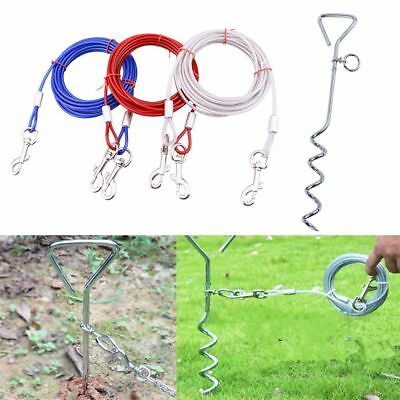 Strap Steel Wire Bolt Pet Traction Rope Puppy Fixed Pile Dog Training Leash