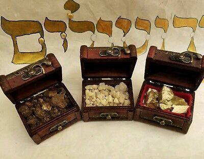 Three Kings Gifts Gold Frankincense and Myrrh Standard 3 Boxes Set 3x2.5x2.5 in