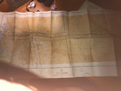 Vintage WWII Aeronautical Sectional Chart Prescott AZ 1943 Restricted Air Map