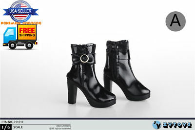 """1//6 Scale Ankle Boots A For 12/"""" TBLeague Hot Toys PHICEN Female Figure ❶USA❶"""