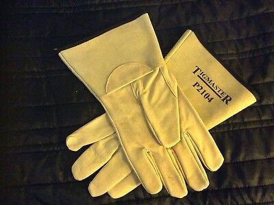 Tigmaster Tig Welding Gloves Soft Beige Leather Size Extra Large  1 Pair