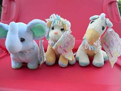 NEW Set of 3 PRECIOUS MOMENTS Tender Tails CIRCUS Birthday TRAIN PLUSH AGE 4 5 6