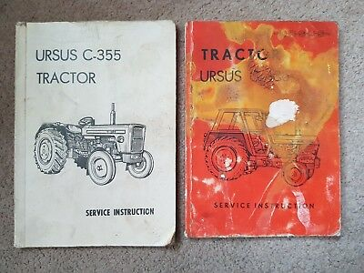URSUS C-355 and C-385 Tractor service instruction books
