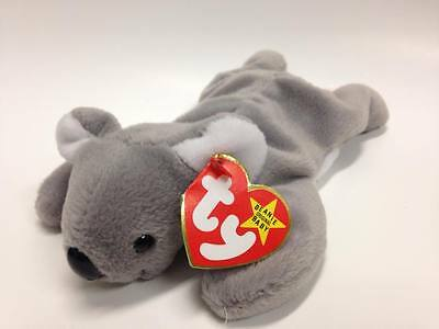 "Ty Beanie Babies Mel Koala Bear Plush 8"" Stuffed Animal Gray NEW"