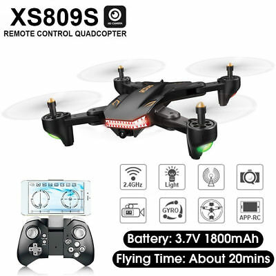 XS809s Foldable FPV 2Mp HD Camera Drone RC Wifi 2.4Ghz 4CH Quadcopter RC UAV Toy