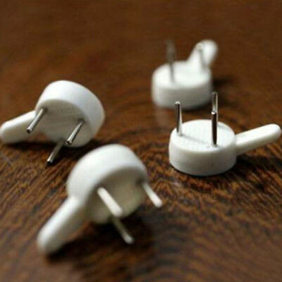 20*Hard Wall Hanging Hooks Heavy Duty Picture Hook Strong White Nail Fixing