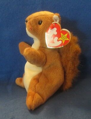 Ty Beanie Baby Nuts 5TH Generation Tag is creased