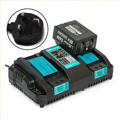 For Makita DC18RD Li-ion LXT 7.2v-18v Fast Rapid Dual Port Charger - UK Plug