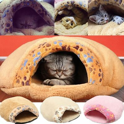 Small Pet Cat Dog House Kennel Bag Puppy Cave Sleeping Bed Mat Pad Warm Nest New
