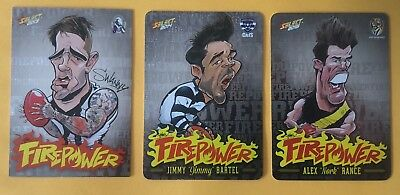 AFL Select 2013-2015 Firepower Caricatures Bulk Listing-Pick your player