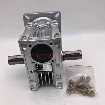 NMRV050 Worm Reducer Ratio 20:1 Worm Gearbox NEMA42 Stepper Motor Dual Shaft