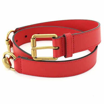 7f47d376dd2 GUCCI Ceinture en cuir avec mors Belt Leather Red 488939 90060351