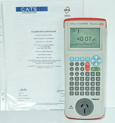 Seaward Primetest 300 Portable Appliance PAT Tester Class I&II *CALIBRATED*