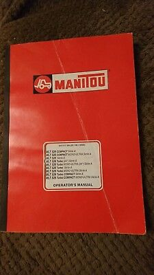 Manitou MLT 526 Operators Manual, 547777 EN (02/05/2002) Very Good Condition