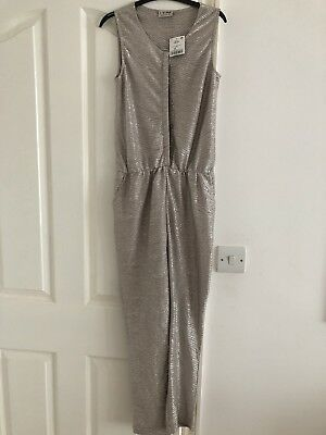 Next Girls Jumpsuit Gold Age 10 NEW