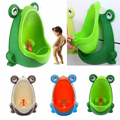 Baby Kid Children Boy Potty Urinal Toilet Training Bathroom Frog Pee Trainer New